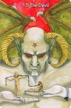 XV. The Devil - Hezicos Tarot by Mary Griffin