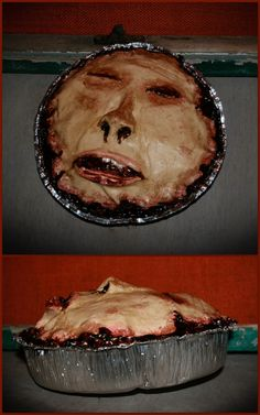 DIY Inspiration: Halloween People Pot Pies from the Etsy Shop of ItCameFromUnderMyBed.There are no items for sale in this shop presently, but it may be a seasonal business. These pies are made from lightweight foam and latex.
