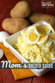 I've never tasted a potato salad that is as good as this one! This is one that has been a family favorite of ours for YEARS. This is the one and only easy potato salad recipe that we use and that we Homemade Potato Salads, Best Potato Salad Recipe, Easy Potato Salad, Potato Recipes, Best Ever Potato Salad, Potato Salad With Egg, Potato Dishes, Food Dishes, Side Dishes
