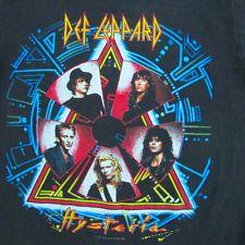 SCARCE ! VTG ORIGINAL ROCK TEE SHIRT DEF LEPPARD HYSTERIA TOUR 1988 BLACK
