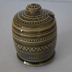 Vintage Wade Shamrock Honey / Condiment Pot with Lid by James Borsey Irish Porcelain by VintageFindsOfTampa on Etsy