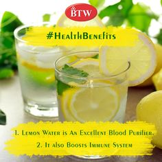 Drink Lemon Water and Stay Healthy !! #BTW #Healthytips #tipsoftheday #health #lemonwater #skincare #beauty #wellness #diet #skin #whenlifegivesyoulemons #healthyliving #drink #healthyfood #healthyeating #lifestyle #getfit #fithealth #healthbenefits #yummy #immunebooster #refreshing #mynextdrink #relaxation #vegetarian #happy #holistic #natural #nochemicals #naturaldetox #plantmedicine