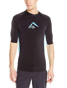 Summer   Kanu Surf Men's Glide UPF 50  Rashguard, Black, Medium -- This is an Amazon Associate's Pin. Find the item on Amazon website by clicking the VISIT button.