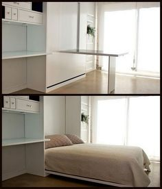 Murphy Bed Shown With The Desk Folded Out Design Ideas Pinterest Desks And Room