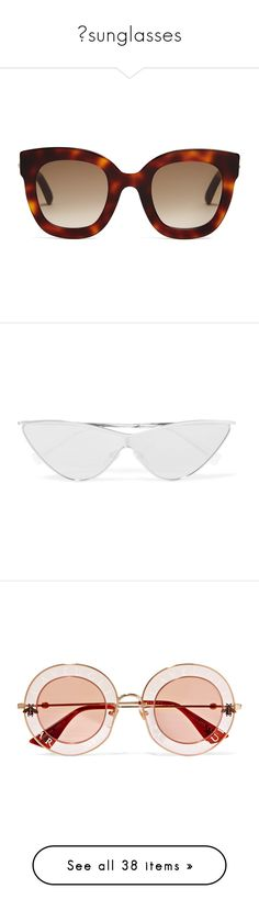 """""""✖sunglasses"""" by alexisainsworth ❤ liked on Polyvore featuring accessories, eyewear, sunglasses, glasses, black, logo sunglasses, metal cat eye sunglasses, oversized cat eye sunglasses, tom ford glasses and thick sunglasses"""