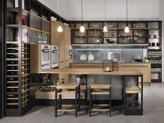 INDUSTRIAL CHIC Cucina con isola by L\'Ottocento | timber ...