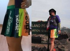 Running skirt made from Siskiyou Out Back race shirts from 2009-2014
