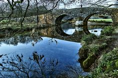 Two Bridges ( the second can be seen in the background) at Dartmoor National Park