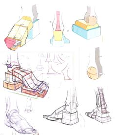 """Foot construction, from the Michael Hampton's book """"Figure Drawing Design and Invention"""""""