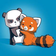 cute and funny art  tee turtle   Panda Hug