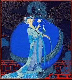 Blue! / George Barbier (1882-1932) - French Art Deco Fashion Illustrator - Oriental