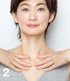 Massage, Acupuncture Points, Face Yoga, Dark Brown Eyes, Fair Skin, Black Hair, Health Tips, Health And Beauty, Health Fitness
