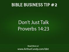 Bible Business Tip #2: Don't Just Talk