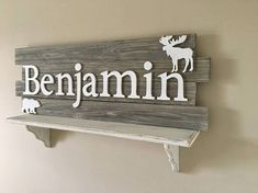 Could easily make this. Nursery Wood Sign, Nursery Wall Decor, Baby Decor, Baby Boy Rooms, Baby Boy Nurseries, Baby Room, Farm Animal Nursery, Baby Farm Animals, Kylie Baby