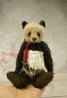 Cassiopeia  Mohair Panda Style Artist Teddy Bear by aerlinnbears