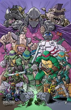 Original Comic Art titled Showcase Comic Books and Collectibles Kevin Eastman event print, located in Tim's Teenage Mutant Ninja Turtles Comic Art Gallery Teenage Ninja Turtles, Ninja Turtles Art, Rukia Bleach, Old School Cartoons, Cultura Pop, Anime, Cartoon Wallpaper, Caricatures, Graphic