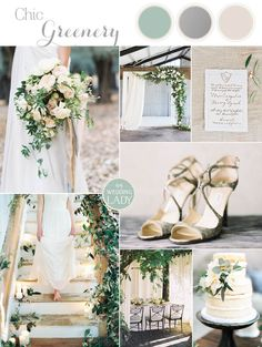 Organic Silver and Greenery Wedding Inspiration