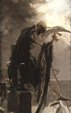 Max Pirner, Allegory of Death after 1886.