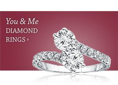 """NEW """"You & Me"""" diamond ring.   Celebrate your story of forever with our new 2-stone diamond """"you & me"""" ring. One stone to represent the love of your life, the other to represent your heart & love that is always with them.  Stamped underneath, the ultimate symbol of your partnership, an ampersand """"&"""" character."""