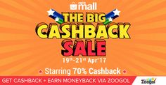 Paytm the Big Cashback Sale : Get Upto 70% Paytm Cashback on wide range of electronics, home & kitchen & fashion products. Buy via Zoogol and Get Cashback + Earn Moneyback on all your purchases