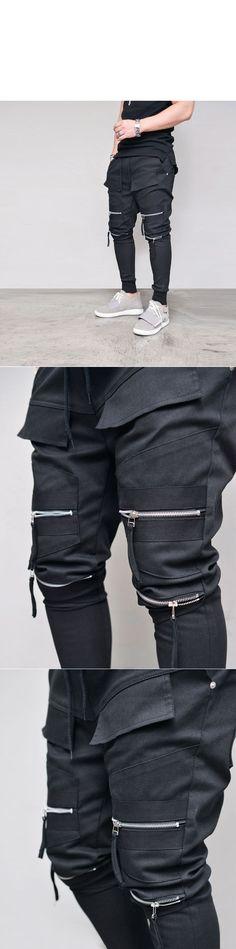Double Zipper Biker Jogger-Sweatpants 352 - GUYLOOK