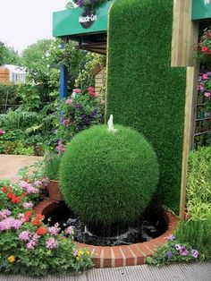Nature Whispering of Outdoor Garden Water Fountains: Unique Garden Water Fountains Front Yard Garden Design, Small Front Yard Landscaping, Garden Landscaping, Patio Design, Landscaping Ideas, Unique Gardens, Amazing Gardens, Beautiful Gardens, Garden Water Fountains