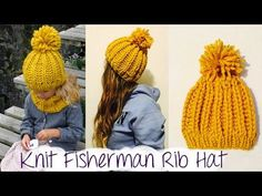 HOW TO KNIT FAST AND EASY CHUNKY RIBBED HAT - YouTube