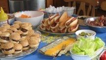 I've had a lot of experience preparing party food for kids and Teens.Three Kids means three Birthday Parties a year, so creating a menu is easy for me.  Here are some great menu ideas to feed kids at a party... including some menus that work for theme parties.  Remember, these are kids, and you will be stressed enough hosting a party. Keep the menu simple, easy to make, easy for kids to eat and fun.