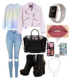 """Today's Look♡"" by liamariemarinez on Polyvore featuring moda, Topshop, Roberto Cavalli, Givenchy, Michael Kors e Smashbox"