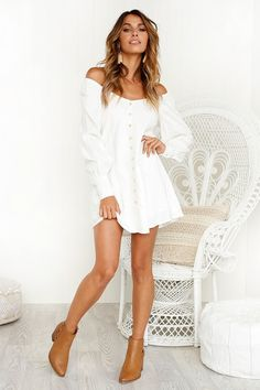Keep A Secret Dress WHITE