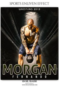 Morgan Fernando Wrestling Sports Enliven Effects Photoshop Template