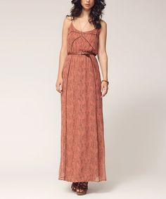 Take a look at this Cedar Commentary Silk  Maxi Dress by Left on Houston on #zulily today! $100 !!