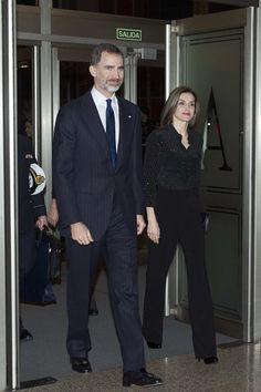 King Felipe and Queen Letizia attend tribute concert 'In Memoriam' for terrorism victims at the Auditorio Nacional de Musica in Madrid