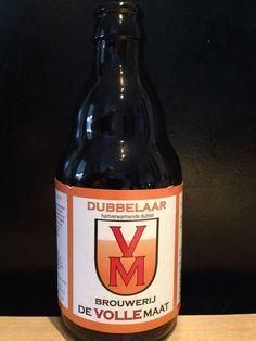 De Volle maat - Dubbelaar. 33cl, 7,5%, Cat.S Brouwerij De Volle Maat. www.devollemaat.nl