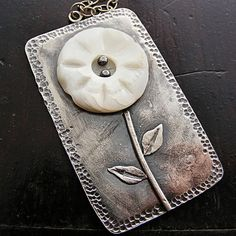 Mother Of pearl Flower button Pendant | Flickr - Photo Sharing!