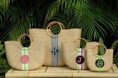 Monogrammed  Florida Baskets- So Many Designs! The Pink Monogram's New Favorite Pick.