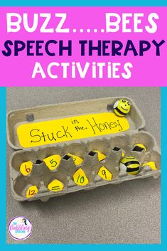 bee activities for elementary speech therapy - create a DIY bee game for speech therapy to use with any lesson