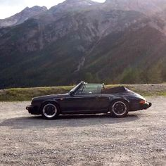 My 1987 Porsche 911 3.2 convertible on the Stelvio pass