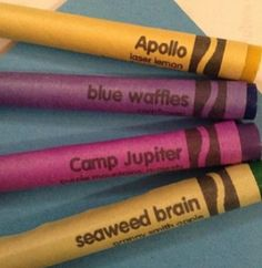 AAAAAAAAAAAAAAAAAAAAAAAAHHHHHHHHHHHHHHHHHHHHHH! Percy Jackson crayons. Where can you get these?!??
