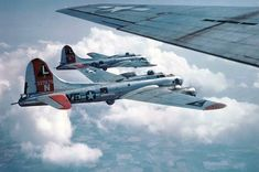B-17G Fortresses of the 381st Bomb Group in flight Summer-Fall 1944.