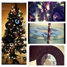 """Turning records in to Christmas ornaments. Order your Reverend Beat-Man/Daddy Long Legs 7"""" record ornaments for only $3 each at www.muddyrootsmusic.com Daddy Long, Christmas Tree, Christmas Ornaments, Long Legs, Turning, Roots, Holiday Decor, Home Decor, Teal Christmas Tree"""