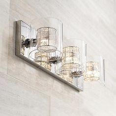 """Possini Euro Design Wrapped Wire 22"""" Wide Bathroom Light"""