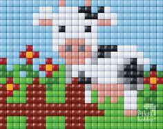 Cow cross stitch. Animal cross stitch.