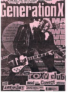 Generation X The Roxy, London 15th January 1977