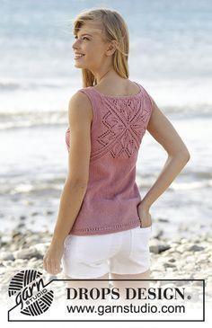 Ravelry: Butterfly Heart Top pattern by DROPS design Summer Knitting, Free Knitting, Crochet Woman, Crochet Lace, Tunisian Crochet, Crochet Granny, Drops Design, Sweater Knitting Patterns, Crochet Patterns