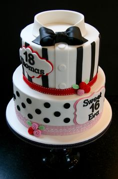 Sweet sixteen and eighteen cake