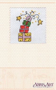 Cross stitch kit Postcard Do it yourself Gifts firework by AbrisA