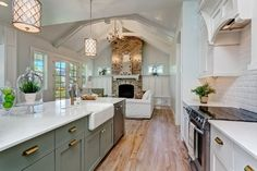 The Creek Pointe - beach-style - Kitchen - Boise - Clark & Co Homes