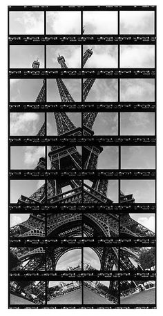 German artist Thomas Kellner has captured Eiffel Tower , the iconic symbol of France, then turned them into stunning contact sheet arts . A Level Photography, Experimental Photography, Landscape Photography Tips, Photography Projects, Creative Photography, Art Photography, Building Photography, Photography Tutorials, Creative Landscape