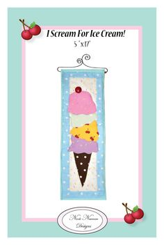 I Scream for Ice Cream Petite Quilt PDF Pattern by BuzzellisQuilts, $6.50